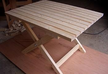 折りたたみ足,テーブル完成