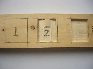 木材のノミ加工