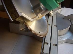 卓上スライド丸のこの傾斜切り
