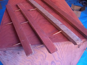 古いタンス使用竹釘