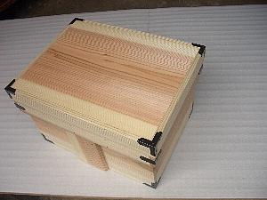 木箱の金物補強