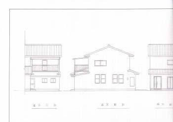 住宅の立面図