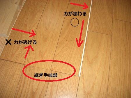 継ぎ手端部を1回で付けるテクニック-2