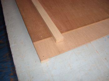 直角部材の固定